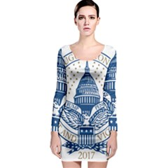 Presidential Inauguration Usa Republican President Trump Pence 2017 Logo Long Sleeve Bodycon Dress