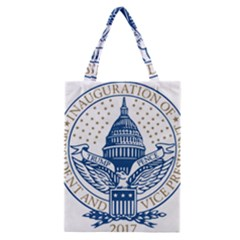 Presidential Inauguration Usa Republican President Trump Pence 2017 Logo Classic Tote Bag