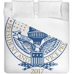 Presidential Inauguration USA Republican President Trump Pence 2017 Logo Duvet Cover (King Size) by yoursparklingshop
