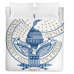 Presidential Inauguration USA Republican President Trump Pence 2017 Logo Duvet Cover Double Side (Queen Size) by yoursparklingshop