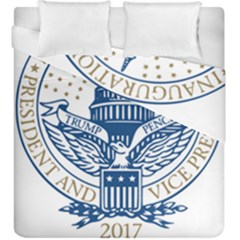 Presidential Inauguration USA Republican President Trump Pence 2017 Logo Duvet Cover Double Side (King Size) by yoursparklingshop