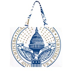 Presidential Inauguration USA Republican President Trump Pence 2017 Logo Zipper Large Tote Bag by yoursparklingshop