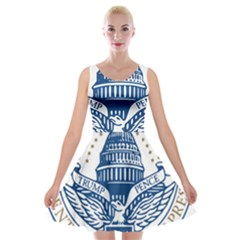 Presidential Inauguration USA Republican President Trump Pence 2017 Logo Velvet Skater Dress by yoursparklingshop