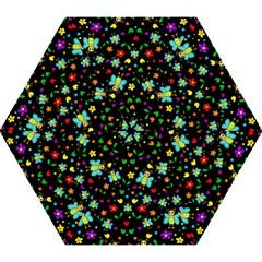 Butterflies And Flowers Pattern Mini Folding Umbrellas by Valentinaart