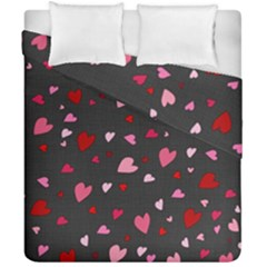 Hearts Pattern Duvet Cover Double Side (california King Size) by Valentinaart