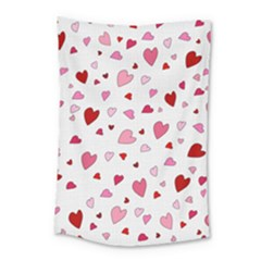 Valentine s Day Hearts Small Tapestry by Valentinaart