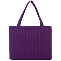 Purple Texture Mini Tote Bag by Valentinaart