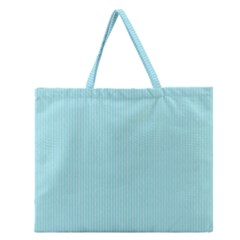 Light Blue Texture Zipper Large Tote Bag by Valentinaart