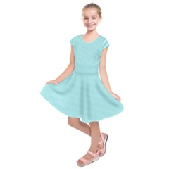 Light Blue Texture Kids  Short Sleeve Dress by Valentinaart