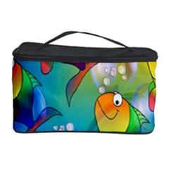 Fish Pattern Cosmetic Storage Case by Nexatart
