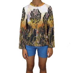 Abstract Digital Art Kids  Long Sleeve Swimwear