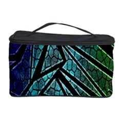 Abstract Background Rainbow Metal Cosmetic Storage Case by Nexatart
