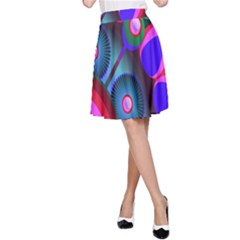 Abstract Digital Art  A Line Skirt