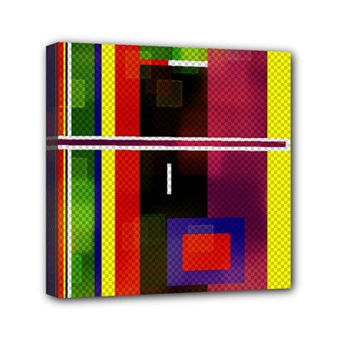 Abstract Art Geometric Background Mini Canvas 6  X 6