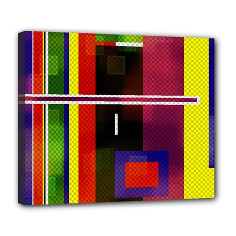 Abstract Art Geometric Background Deluxe Canvas 24  X 20