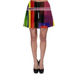Abstract Art Geometric Background Skater Skirt
