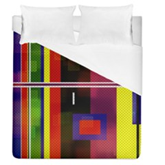 Abstract Art Geometric Background Duvet Cover (queen Size) by Nexatart