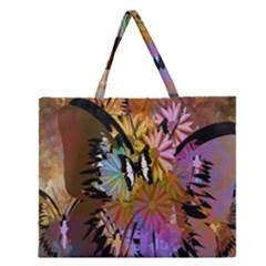 Abstract Digital Art Zipper Large Tote Bag by Nexatart