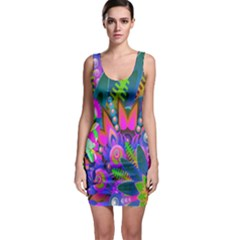Abstract Digital Art  Sleeveless Bodycon Dress
