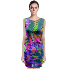 Abstract Digital Art  Classic Sleeveless Midi Dress