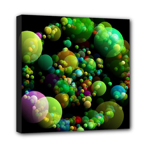 Abstract Balls Color About Mini Canvas 8  X 8