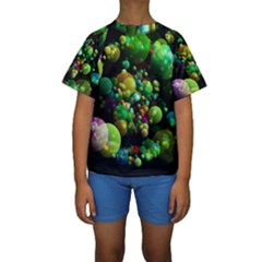 Abstract Balls Color About Kids  Short Sleeve Swimwear