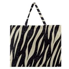 SKN3 BK-MRBL BG-LIN Zipper Large Tote Bag by trendistuff