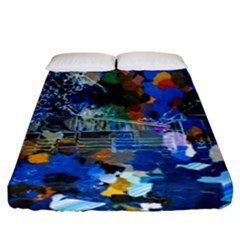 Abstract Farm Digital Art Fitted Sheet (king Size) by Nexatart