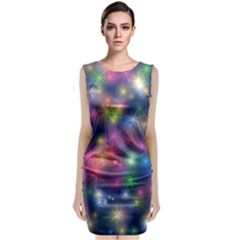 Abstract Background Graphic Design Classic Sleeveless Midi Dress