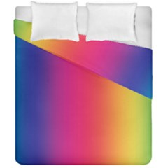 Abstract Rainbow Duvet Cover Double Side (california King Size) by Nexatart