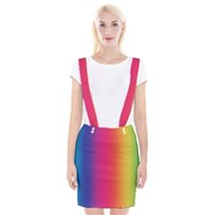 Abstract Rainbow Suspender Skirt