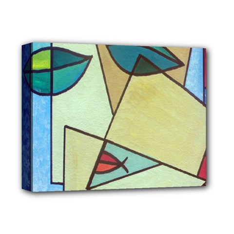 Abstract Art Face Deluxe Canvas 14  X 11
