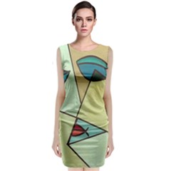 Abstract Art Face Classic Sleeveless Midi Dress