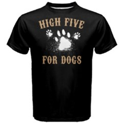 High Five For Dogs   Men s Cotton Tee by FunnySaying