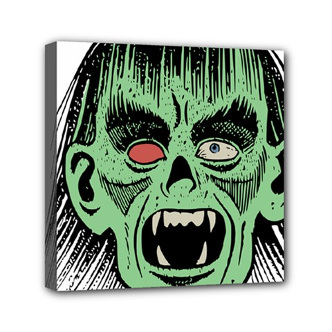 Zombie Face Vector Clipart Mini Canvas 6  X 6