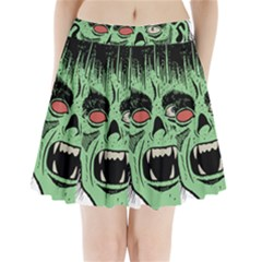 Zombie Face Vector Clipart Pleated Mini Skirt by Nexatart
