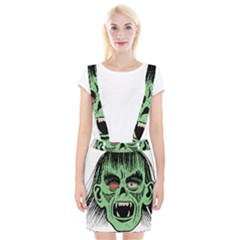 Zombie Face Vector Clipart Suspender Skirt by Nexatart