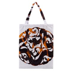 Ornament Dragons Chinese Art Classic Tote Bag by Nexatart