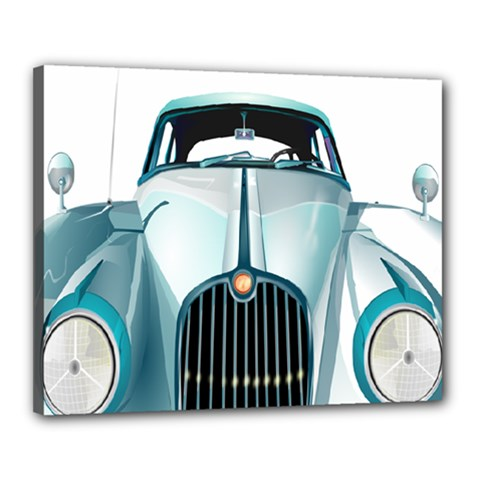 Oldtimer Car Vintage Automobile Canvas 20  X 16