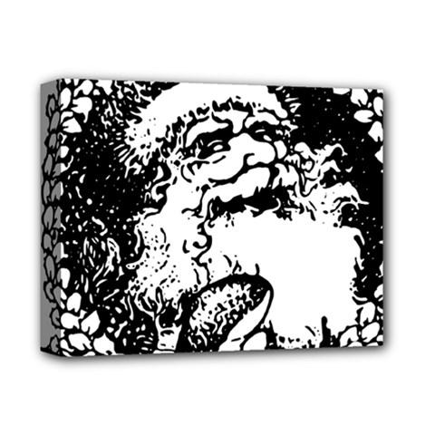 Santa Claus Christmas Holly Deluxe Canvas 14  X 11  by Nexatart