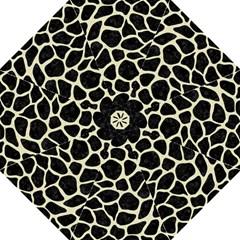 Skin1 Black Marble & Beige Linen (r) Golf Umbrella by trendistuff