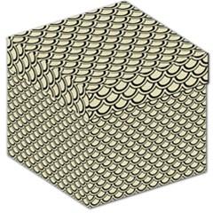 Scales2 Black Marble & Beige Linen (r) Storage Stool 12  by trendistuff