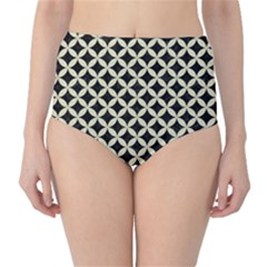CIR3 BK-MRBL BG-LIN High-Waist Bikini Bottoms by trendistuff