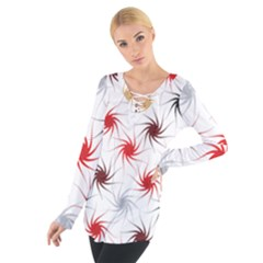 Pearly Pattern Women s Tie Up Tee