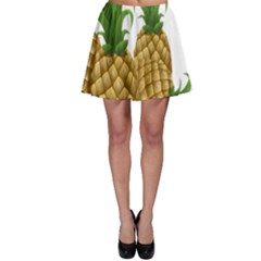 Pineapples Tropical Fruits Foods Skater Skirt