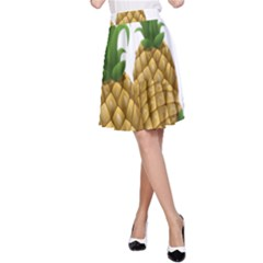 Pineapples Tropical Fruits Foods A Line Skirt