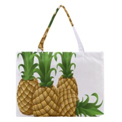 Pineapples Tropical Fruits Foods Medium Tote Bag by Nexatart