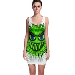 Monster Green Evil Common Sleeveless Bodycon Dress