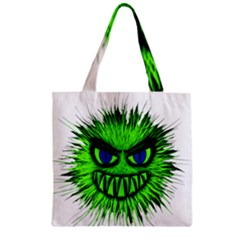 Monster Green Evil Common Zipper Grocery Tote Bag