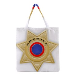 Sheriff S Star Sheriff Star Chief Grocery Tote Bag by Nexatart